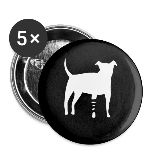 canidius button - Buttons klein 25 mm (5er Pack)