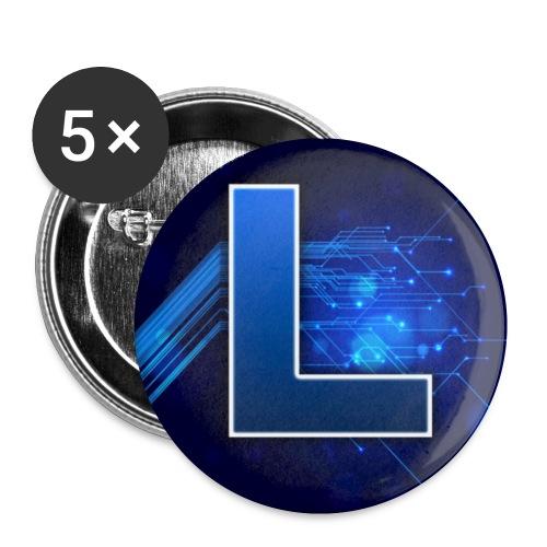 Logo GamenMetLucas - Buttons klein 25 mm (5-pack)