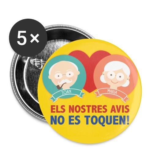 Txapa Avis Catalans - Paquete de 5 chapas pequeñas (25 mm)