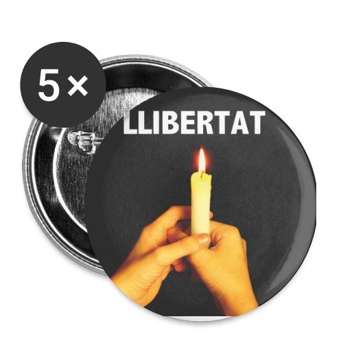 Txapa Llibertat - Paquete de 5 chapas pequeñas (25 mm)