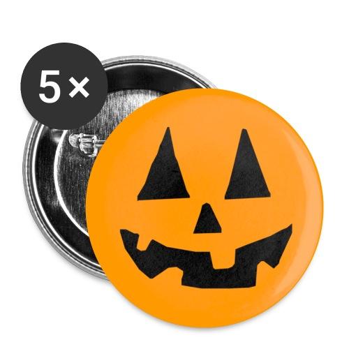 Pumpkin Head - Confezione da 5 spille piccole (25 mm)