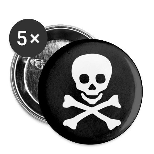Skull - Confezione da 5 spille piccole (25 mm)