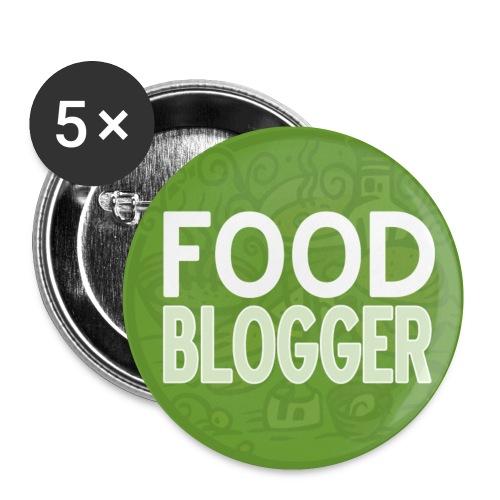 Food Blogger - Confezione da 5 spille piccole (25 mm)