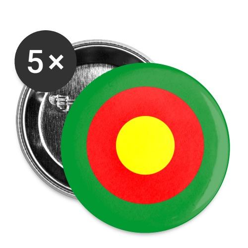 Kamerun Cameroons Afrika Africa Mod Target - Buttons klein 25 mm (5er Pack)