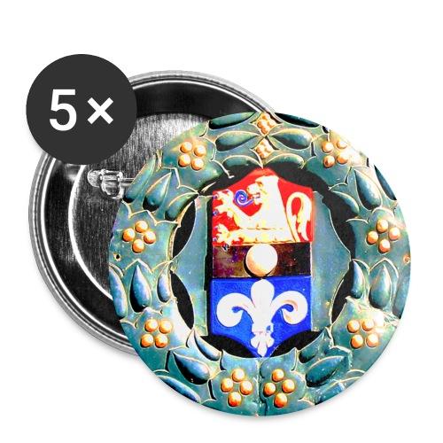 Button Wappen Darmstadt - Buttons klein 25 mm (5er Pack)
