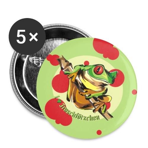 button froschfötzchen - Buttons klein 25 mm (5er Pack)