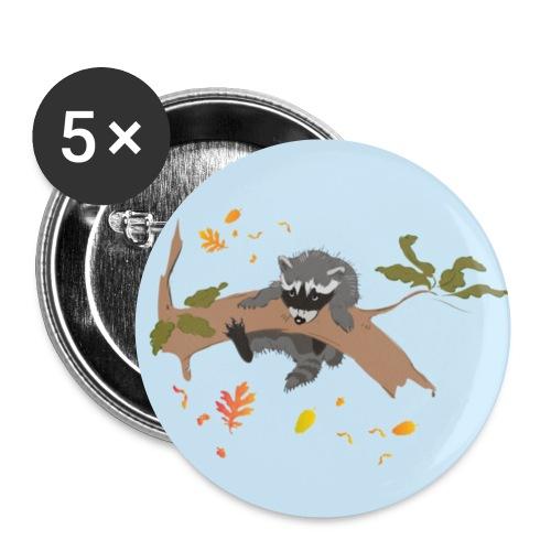button little raccoon - Buttons klein 25 mm (5er Pack)