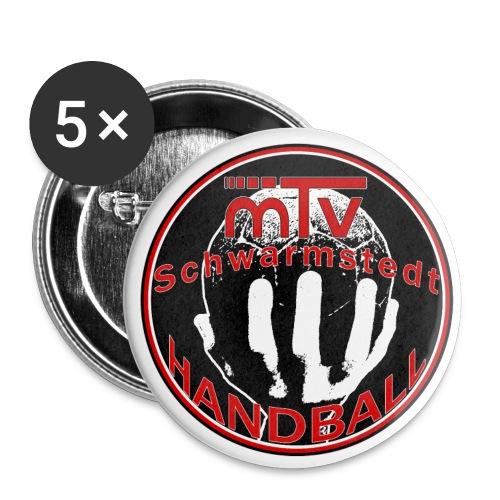 handballlogofertig farbieg - Buttons klein 25 mm (5er Pack)