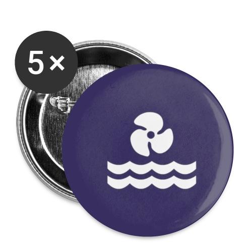 chapa logo mar - Paquete de 5 chapas pequeñas (25 mm)