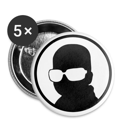 Logo Korben NOIR - Lot de 5 petits badges (25 mm)