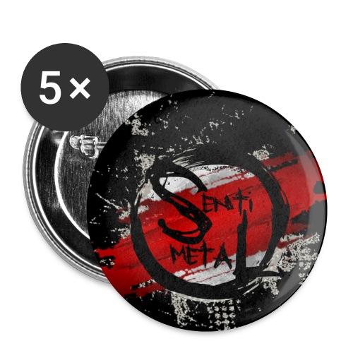 Senti-Metal Logo - Buttons klein 25 mm