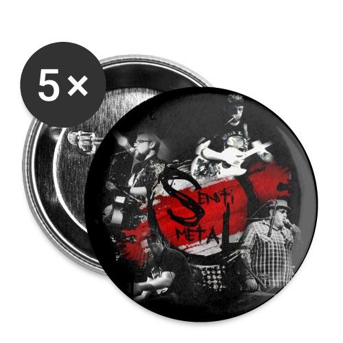 Button-Design - Buttons klein 25 mm (5er Pack)
