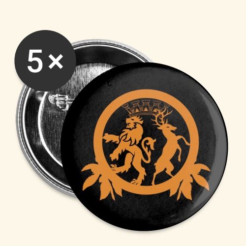 MI6 Crew Logo black - Buttons klein 25 mm