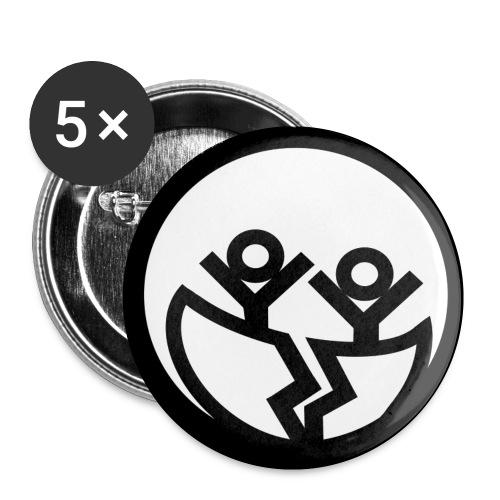 Unser Logo als Button - Buttons klein 25 mm (5er Pack)
