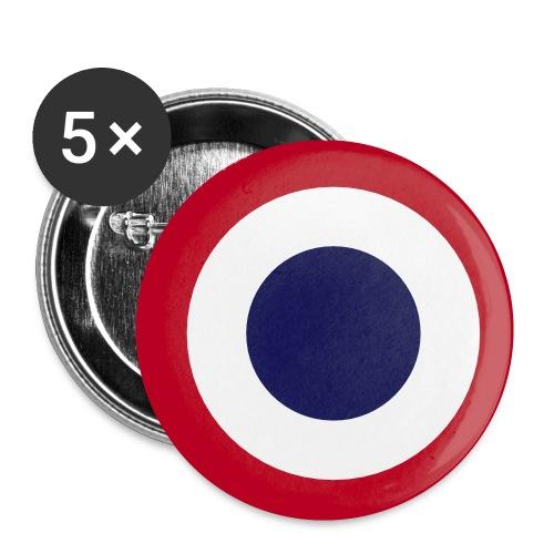 FFI Logo 2 manche - Lot de 5 petits badges (25 mm)