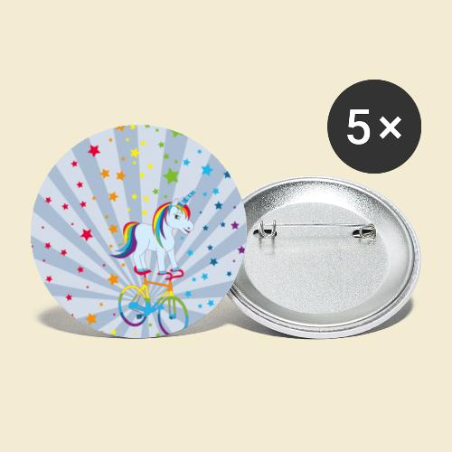 Kunstrad | Einhorn Handyhülle - Buttons klein 25 mm (5er Pack)