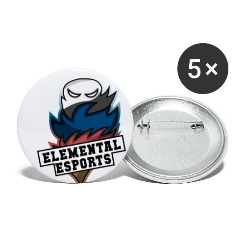 Elemental eSports | 2018 Logo - Buttons/Badges lille, 25 mm (5-pack)