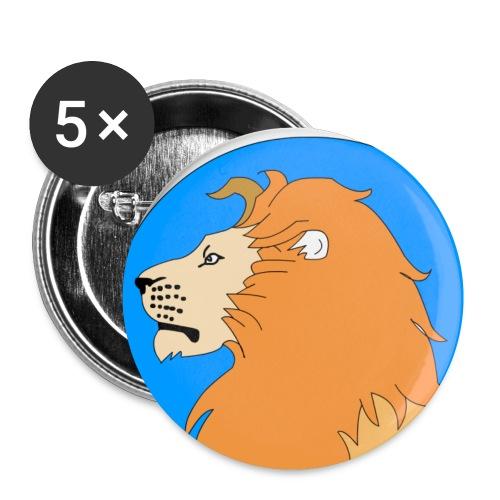 leon - Paquete de 5 chapas pequeñas (25 mm)