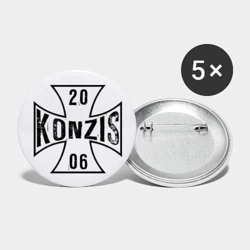 Iron Cross White - Buttons klein 25 mm (5er Pack)