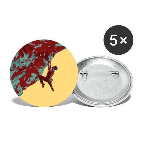 Stark am Fels - Felsklettern am Falkenstein - Buttons klein 25 mm (5er Pack)