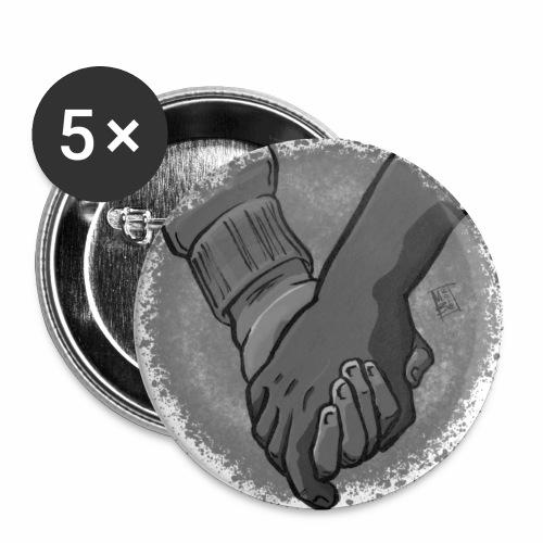 Coraggio - Confezione da 5 spille piccole (25 mm)