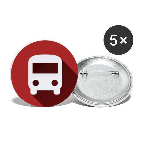 GéNav Logo Couleur - Lot de 5 petits badges (25 mm)