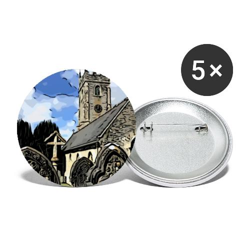 Church - Buttons small 1''/25 mm (5-pack)