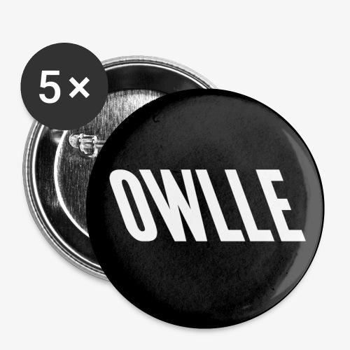 Owlle logo n&b - Lot de 5 petits badges (25 mm)