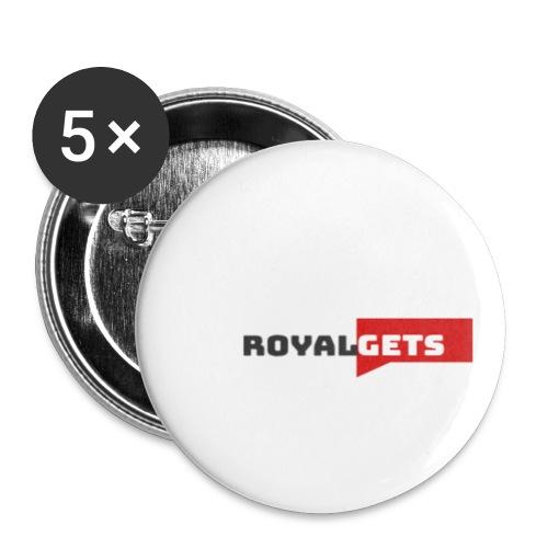 RoyalGets Marque - Lot de 5 petits badges (25 mm)
