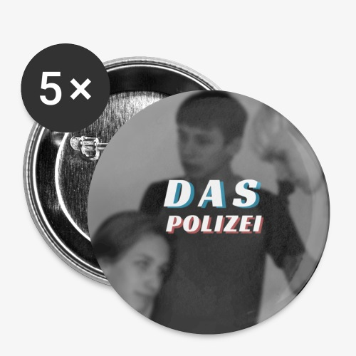 Polizei - Buttons/Badges lille, 25 mm (5-pack)