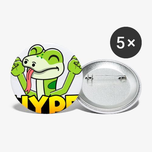 Ödlan Hype - Små knappar 25 mm (5-pack)