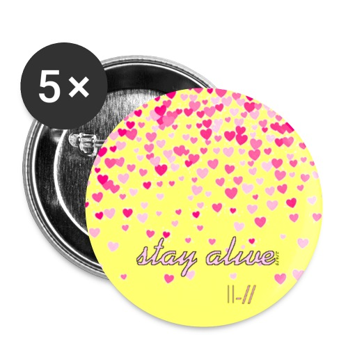 Stay Alive - Buttons small 1''/25 mm (5-pack)