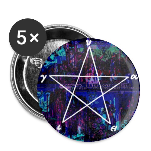 Cool pantagram - Buttons small 1''/25 mm (5-pack)