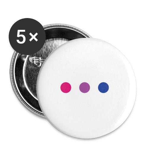 Logo LGBT Bi - Lot de 5 petits badges (25 mm)