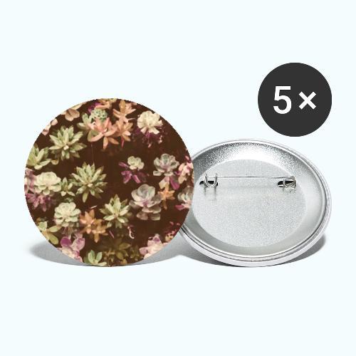 Botanical Garden Watercolor Beige - Buttons small 1''/25 mm (5-pack)