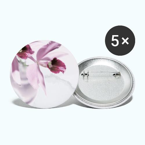 Orchid Vase Watercolor Minimalist - Buttons small 1''/25 mm (5-pack)
