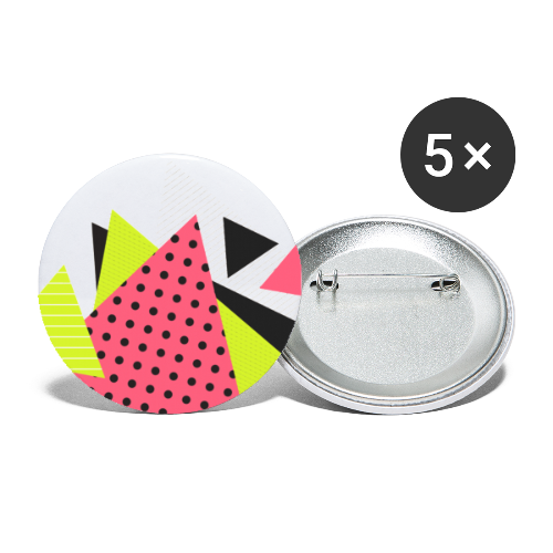 Neon geometry shapes - Buttons small 1''/25 mm (5-pack)