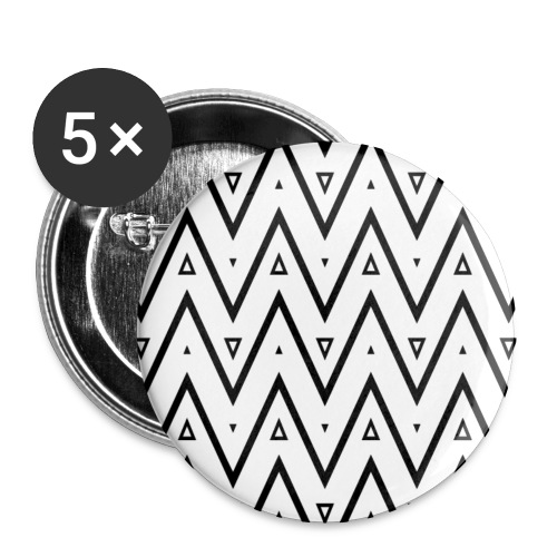 Motif en V - Lot de 5 petits badges (25 mm)