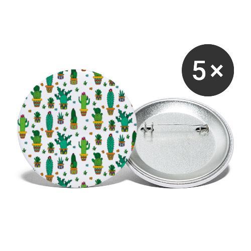 Kaktus Kakteen Wüste Wüsten Pflanze Muster - Buttons klein 25 mm (5er Pack)