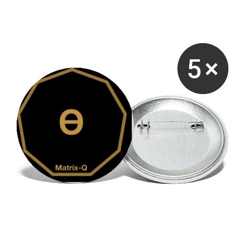 Matrix-Q Mug Theta - Buttons small 1''/25 mm (5-pack)