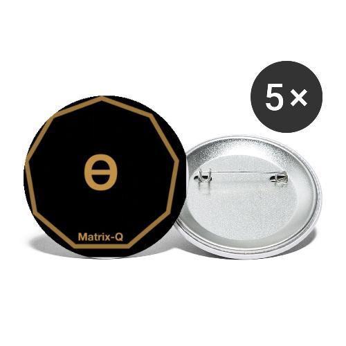 Matrix-Q Mug Theta - Buttons small 1''/25 mm (5-pack)