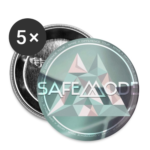 Safemode - Make A Difference Tour - Pins - Buttons small 1''/25 mm (5-pack)