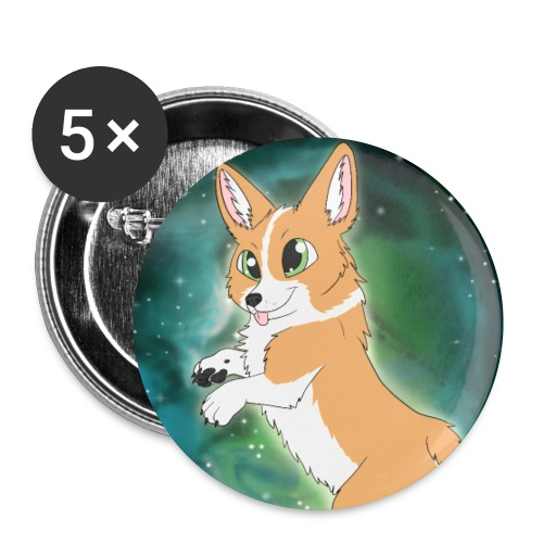 Corgi - Buttons klein 25 mm (5er Pack)