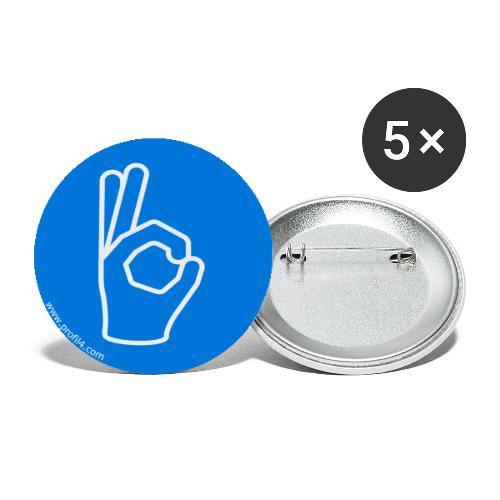 Main Consciencieux DISC - Lot de 5 petits badges (25 mm)