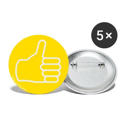 Main Influent DISC - Lot de 5 petits badges (25 mm)
