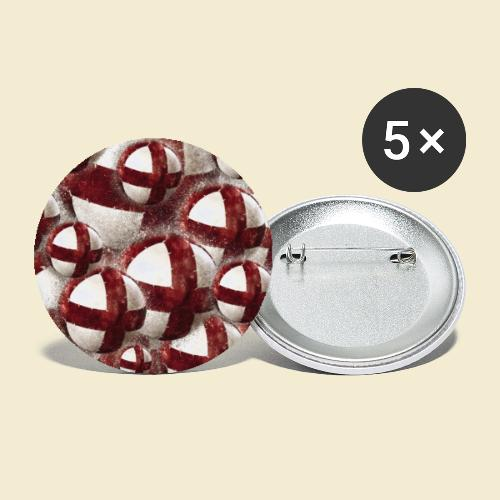 Radball | Cycleball | Muster - Buttons klein 25 mm (5er Pack)