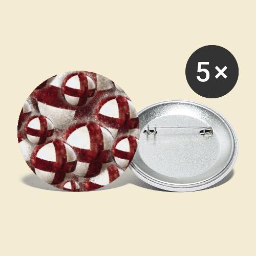 Radball   Cycleball   Muster - Buttons klein 25 mm (5er Pack)