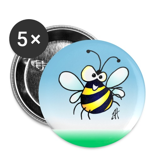Bee - Buttons small 1''/25 mm (5-pack)