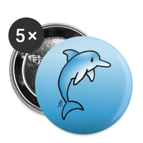 Dolphin - Buttons small 1''/25 mm (5-pack)