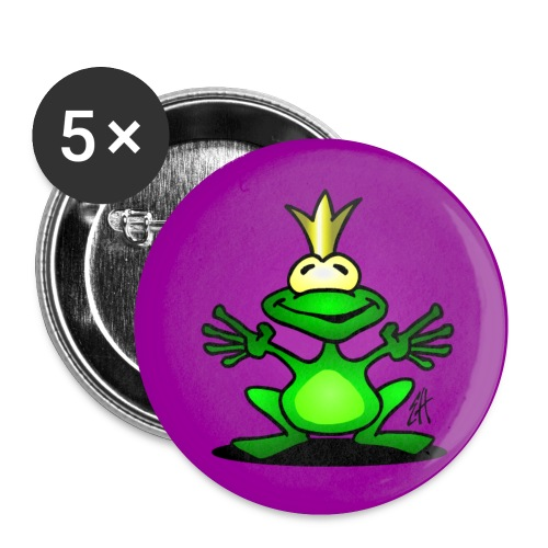 Frog prince - Buttons small 1''/25 mm (5-pack)